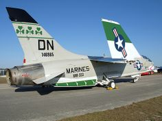 "United States Marine Corps Chance-Vought F8K Crusader BuNo 146985 of VMF-333 ""Fighting Shamrocks""   Trip Trey!"