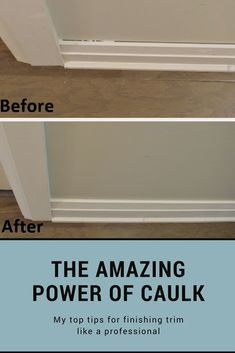 The amazing power of caulk! Tips for installing and finishing trim The amazing power of caulk! Tips for installing and finishing trim Home Improvement Projects, Home Projects, Home Renovation, Home Remodeling, Diy Home Repair, Living Room Designs, Diy Home Decor, Easy, Amazing