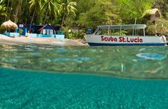 Scuba St Lucia - Top 10 things to do in St Lucia... It's on the list of things that Brent can't wait to do!