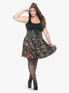 Leg Avenue - Combat Cutie Costume Dress