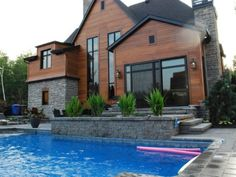 pool + landscaping