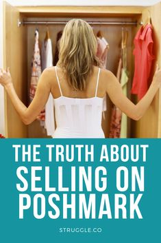The Truth & Fiction of Selling on Poshmark! Learn how to make extra money from home by selling your used clothes on Poshmark. People love shopping on Poshmark, get tips and hacks on selling your clothes on Poshmark!