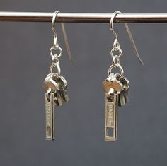Zipper Pull Earrings. $12.00, via Etsy.
