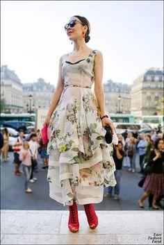 Ulyana Sergeenko after Stella McCartney Fashion Show, Paris 2012