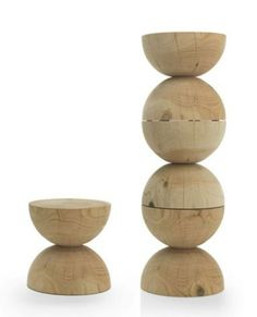 Clessidra Stools - so cool to stack together as a sculpture in the corner until needed!