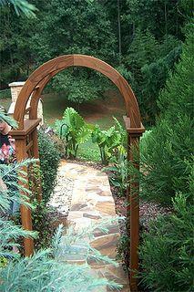 Garden Arbor Walkway #garden #arbor #walkway