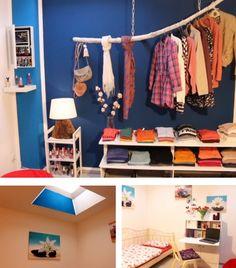 schwebende kleiderstange aus einem ast und ein einf unsere upcycling projekte diy basteln. Black Bedroom Furniture Sets. Home Design Ideas