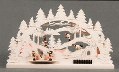 Winterscene 110V handcrafted by Holzkunstgewerbe in Seiffen Germany