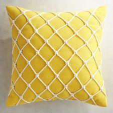 Cabana Fishnet Lemon Pillow