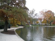 Ohio State University - Mirror Lake, a nice spot on campus