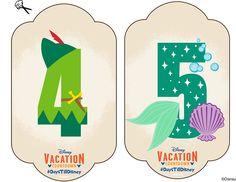 Disney numbers DIY: Create-Your-Own Walt Disney World Vacation Countdown Vacation Countdown, Disney Countdown, Disneyland Vacation, Disney Vacation Planning, Disney World Planning, Walt Disney World Vacations, Disney Trips, Countdown Ideas, Disney Travel