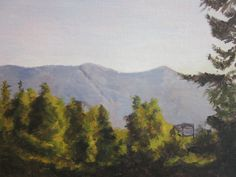 A Mountain Morning Acrylic on Canvas Panel 7 x 9 in/17.8 x 22.9 cm