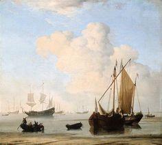 Willem van de Velde de Jonge - Windstilte (1663)