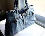 Recycled chic: DIY shoulder bag from an old pair of jeans