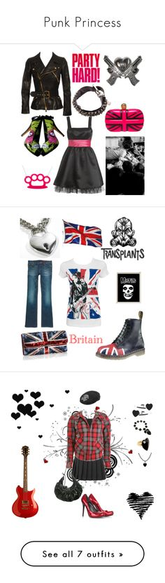 """""""Punk Princess"""" by stefaniinspired ❤ liked on Polyvore featuring Wet Seal, Alexander McQueen, Quirky, Rock Rebel, Goti, punk, Dr. Martens, Monsoon, Forever 21 and Vigoss"""
