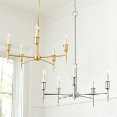 Soren 5 Light Chandelier with Shades | Ballard Designs