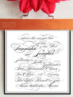 TANNISHA. Classic Wedding Invitation by Be My Guest Design