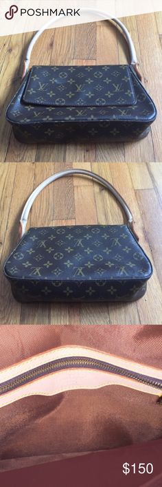 """💯 Auth Louis Vuitton Monogram Mini Looping Bag Gorgeous Louis Vuitton Monogram Looping bag! Decent used condition. Handle shows serious wear (there are holes at the base of each handle). Date code: SR0080. There is a stain on interior flap - unsure of what exactly. Price reduced accordingly for quick sale. No dust bag included. Dimensions are: 10.5"""" x 7.5"""" x 3"""" with an 8"""" strap drop. Louis Vuitton Bags Shoulder Bags"""
