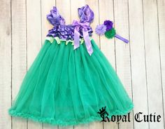 ADORABLE OVER THE TOP BOUTIQUE STYLE SATIN & CHIFFON DRESS & HAIR BOW SET FOR YOUR ROYAL CUTIE!!!  >> PURCHASE OPTIONS << OPTION 1: DRESS ONLY
