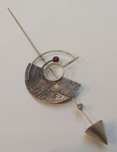 Fiona Mitcham silver map jewellery