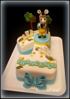 Torta Zou zebra cake First Birthday Cakes, 2nd Birthday Parties, Birthday Ideas, Number Cakes, Beautiful Cakes, First Birthdays, Catering, Cake Decorating, Candy