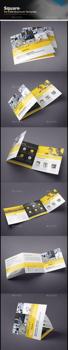 Square Tri-fold Brochure Template Vector EPS, AI #design Download: http://graphicriver.net/item/square-trifold-brochure/14086422?ref=ksioks