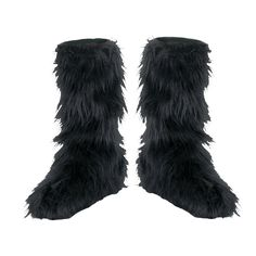 ProductDetail: Accessories Makeup: Feet Footcovers Name: Fuzzy Black Child Boot Covers ID: 20007