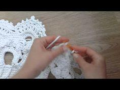 "Ковер ""Великолепный"" 23 ряд - YouTube Crochet Borders, Filet Crochet, Crochet Stitches, Crochet Top, Crotchet, Crochet Patterns, Crochet Bracelet, Crochet Earrings, Yarn Inspiration"