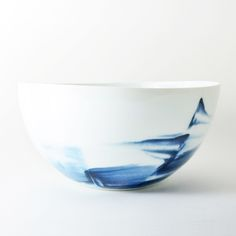 blue and white porcelain bowl. studio joo.