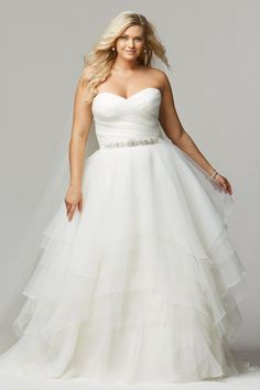 Organza Wedding Dresses Plus size gowns for real women, absolutely beautiful gowns Wtoo Brides Cecilia Gown Wedding Dress Shopping, Cheap Wedding Dress, Wedding Dress Styles, Dream Wedding Dresses, Gown Wedding, Camo Wedding, Wedding Outfits, Wedding Bride, Wedding Dresses For Curvy Women
