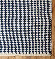 Houndstooth Stripe Indoor/Outdoor Rug -   | Rejuvenation