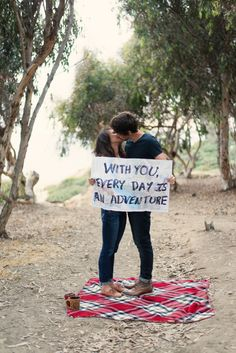 Adventure <3 San Diego engagement session with a map for a sign. >> Sincerely, A. Photography