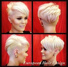 "#BuzzCutFeed on Instagram: ""Beautiful Blonde Pixie Thanks @europeanhairdesign Model @_tiarni_ #UCFeed #BuzzCutFeed #Undercut #Undercuts #ShavedNape…"""