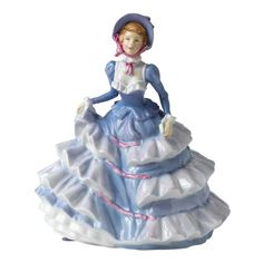 Royal Doulton Petite Pretty Ladies Figurine Hannah   This petite figurine is also available in a pink colorway.