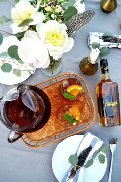 Cool off this summer with this Honey Bourbon sweet tea made with Wild Turkey American Honey.