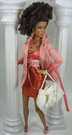Kaleidoscope for FR and Silkstone Barbie African Dolls, African American Dolls, Barbie Style, Beautiful Barbie Dolls, Pretty Dolls, Afro, Fashion Royalty Dolls, Fashion Dolls, Diva Dolls