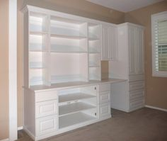 wall storage space | Wall unit with space for electronics, TV, writing desk and wardrobe ...