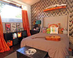 Teen Boy Bedroom Design, Pictures, Remodel, Decor and Ideas - page 3 Boys Bedroom Colors, Bedroom Color Schemes, Boys Room Decor, Kids Bedroom, Bedroom Ideas, Surf Bedroom, Funky Bedroom, Bedroom Inspiration, Colour Schemes