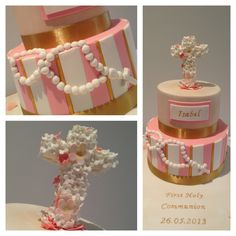 First Holy Communion Cake by Finesse Cakes, Melbourne