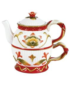 Fitz and Floyd Serveware, Woodland Holiday Teapot from Macy's on Catalog Spree, my personal digital mall.