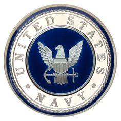 US Navy 1oz .999 Silver Medallion Enameled