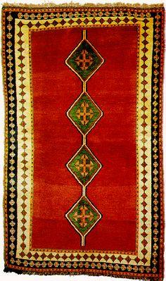 Luxury red oriental carpet.