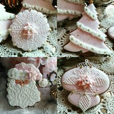 Teri Pringle Wood:  Pink poinsettia collection.  Exquisite.