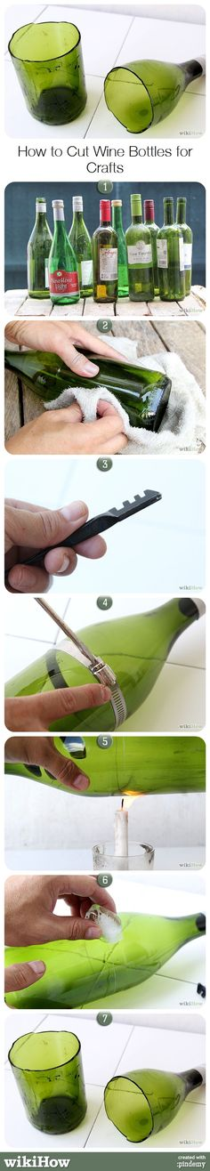 How to Cut Wine Bottles for Crafts, from wikiHow.com