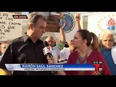 Cuba videos Univision y Telemundo: Miami en apoyo a huelguistas en Cuba y contra la escalada de la represión. - Cuba Democracia y Vida