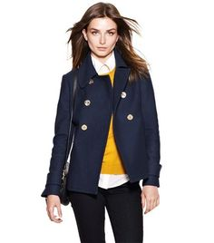 In the words of Stacy London...SHUT UP! I need this coat!!!! Bernadine Peacoat | Womens Jackets & Outerwear | ToryBurch.com