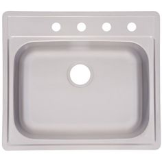 "FrankeUSA FSS804NB 22"" Single Basin Drop In Stainless Steel Sink Satin Fixture Kitchen Sink Stainless Steel"
