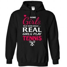Real girls love Tennis T-Shirts, Hoodies, Sweatshirts, Tee Shirts (39$ ==► Shopping Now!)