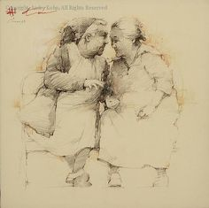 Gossips - Graphite by Andre Kohn...Oh,  How tipical is this cliche´ :)))...when every little detail of sombody`s privite live is THE most facinating aspect of existance...moralisations are in order :)))