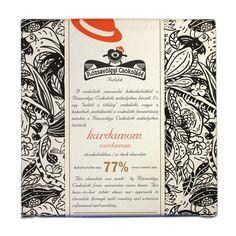 Rózsavölgyi Csokoládé Dark Chocolate 77% With Cardamom